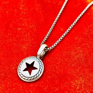 David Yurman Sterling Silver Star Necklace